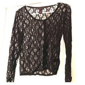 Black Lace Blouse by Ralph Lauren
